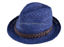 Factory in Zhejiang China special paper raffia braid fedora hat