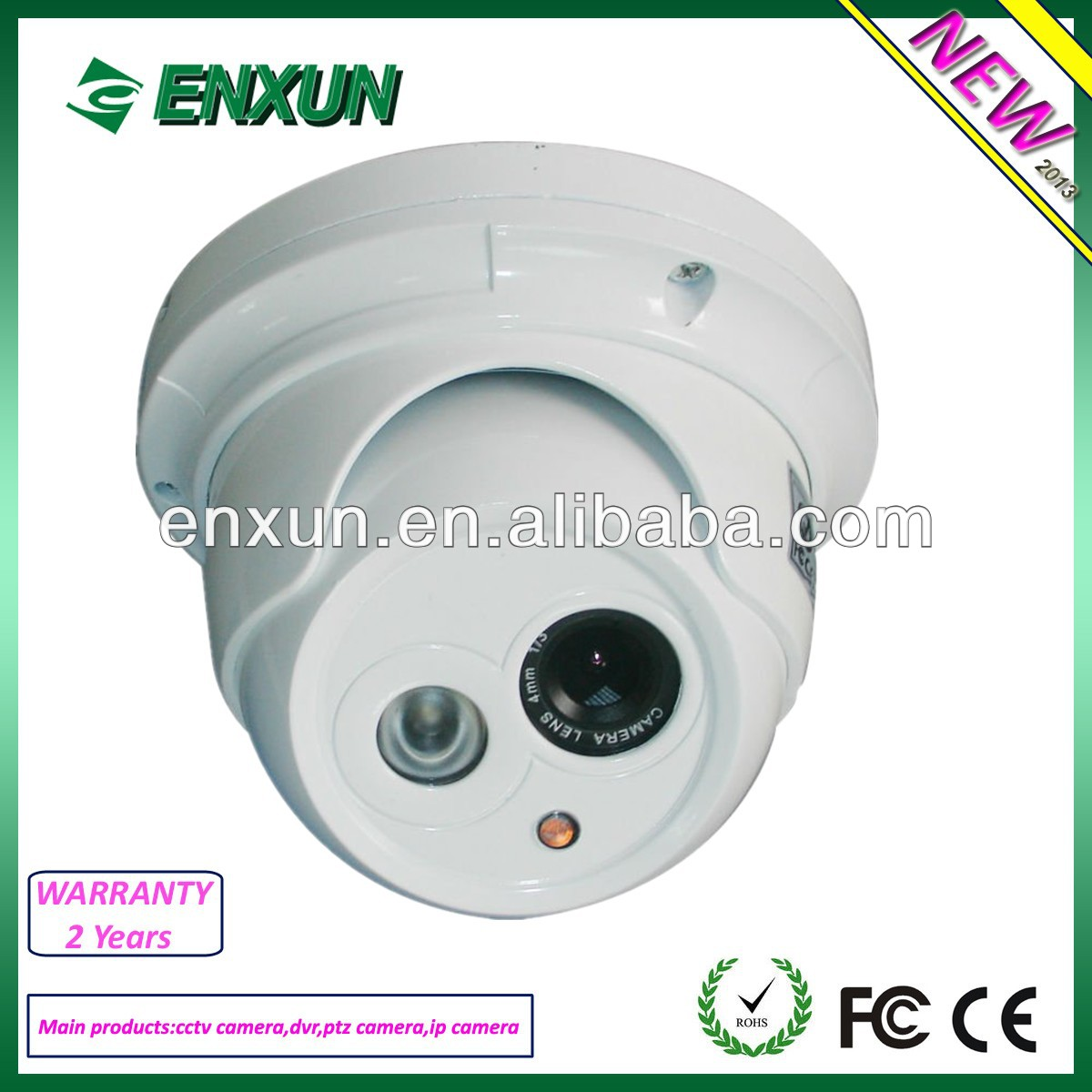intelligent face detection camera 1pc array led cctv dome camera