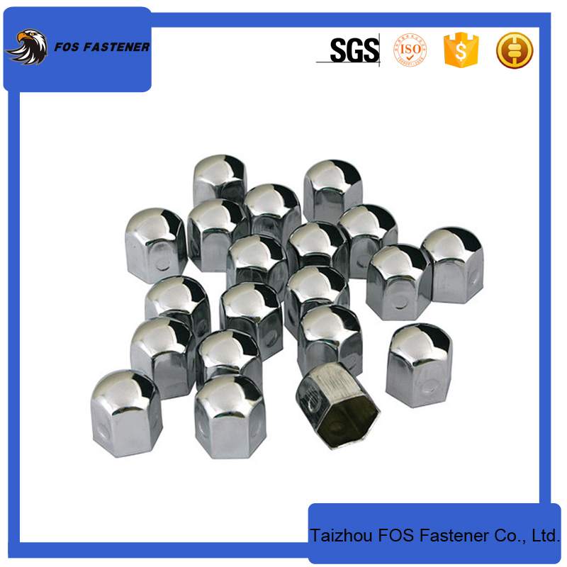 stainless steel chrome wheel nut covers