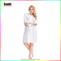 2016 New Style Silk Kimono Robes Silk Bridesmaid Robes Lace Robes