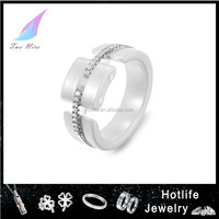 2015 new product high end good quality ceramic gear ring for couple gift