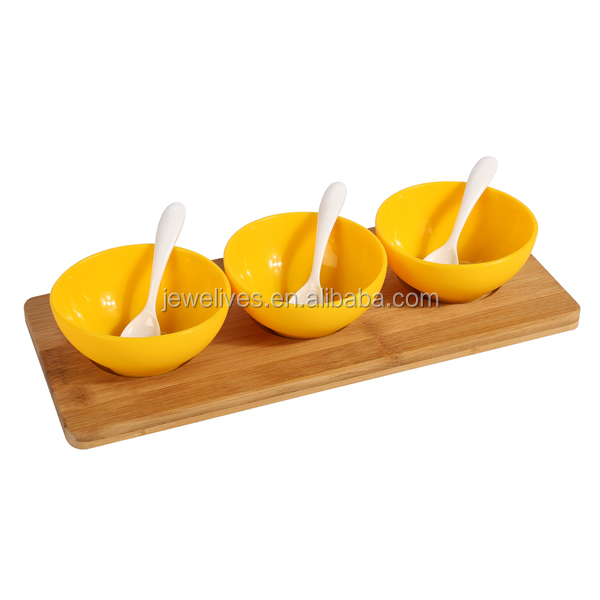 silicone rice bowl/soup bowl/silicone bowl set with bamboo tray