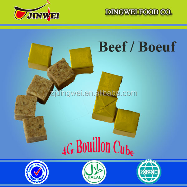 4g halal barbecue beef seasoning/bouillon/stock cubes/powder