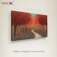 Tree handmade oil painting on canvas abstract oil painting for living room