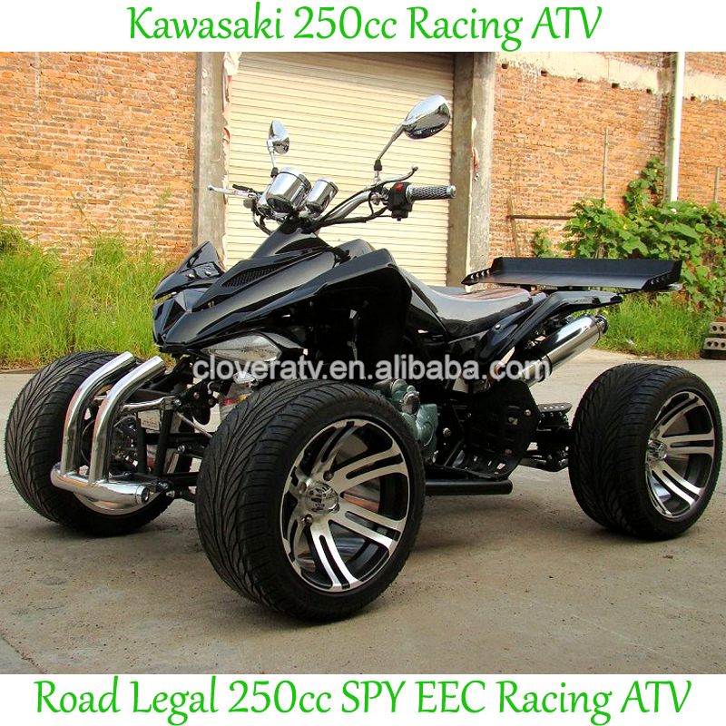 Water Cooled SPY EEC ATV 250CC Racing ATV with Double Exhaust Pipe