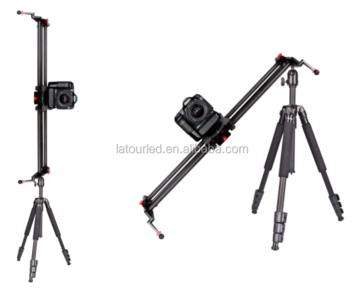80cm Carbon Fiber Camera Track Slider Dolly Video Stabilizer with Follow Focus Pan for DSLR Camera Camcorder DV