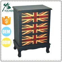 luxury design antique tiger wood nice quality cabinet