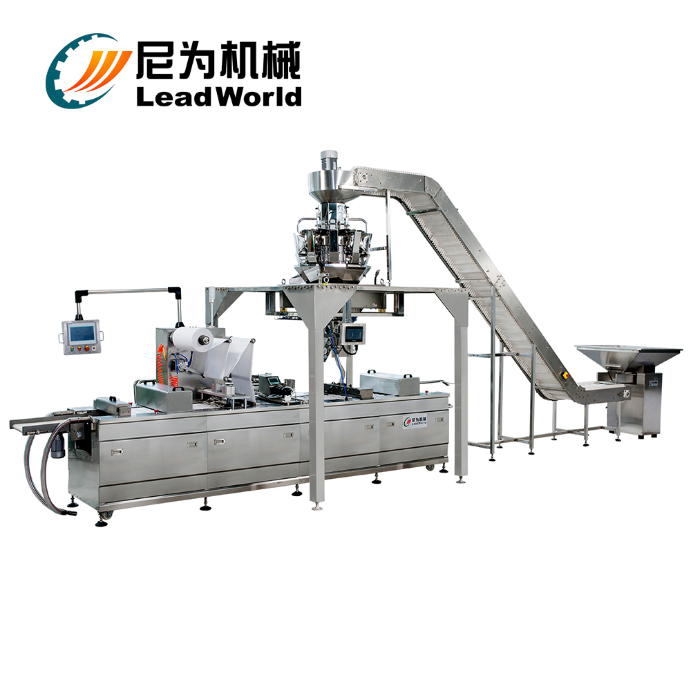 Continuous Sealer Termofoming Dates Vacuum Packing Machine