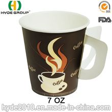 Take Away Disposable Hot Coffee Paper Cup With Handle