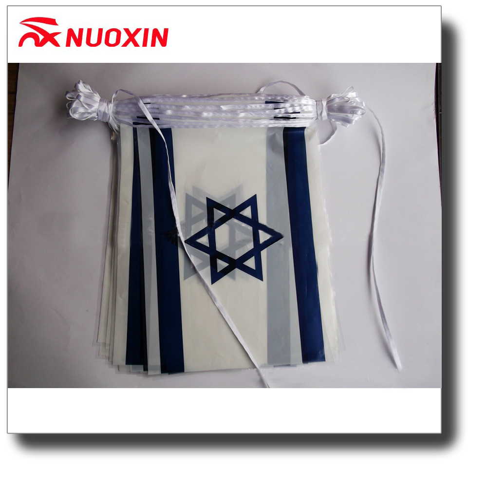 Good quality patriotic events demonstration polyester Israel string flag