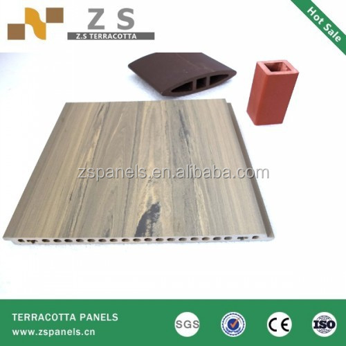 Outdoor construction material home decorative wall tile,curtain terracotta wall clay tiles, terracotta fasade panel for exterior
