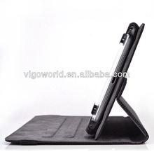 leather folio case cover for microsoft surface pro with built-in stand