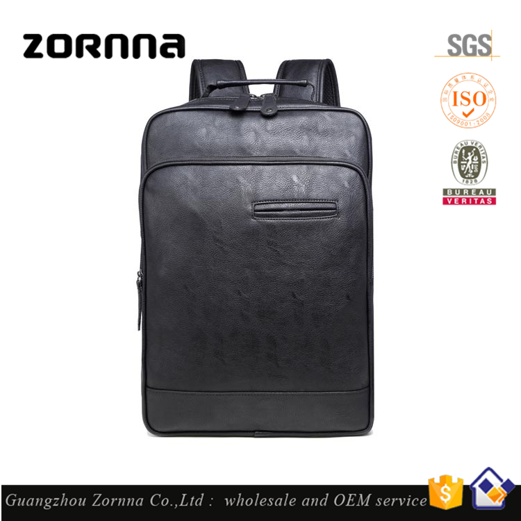Men Fashion High Quality Synthetic Leather Weekend University Back Bag Leather for School Bag