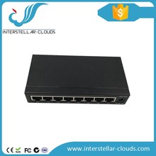 8-port wall installation network switch with push button