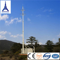 Telecommunication steel monopole tower, antenna tower