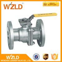 WZLD ASME B 16.10 Standard 2Pc Stainless Steel, Casting Steel Mounting Pad Ball Valve