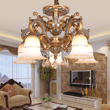 Plastic crystal light home chandelier with low price