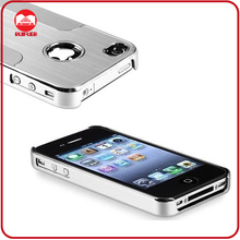 Hot Selling Silver Aluminum Stell Chrome Metal Cell Phone Cases for Iphone 4 4S