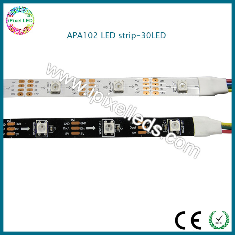 30pcs LED & 30pcs APA102 car advertising led rope apa102 aluminium plate light