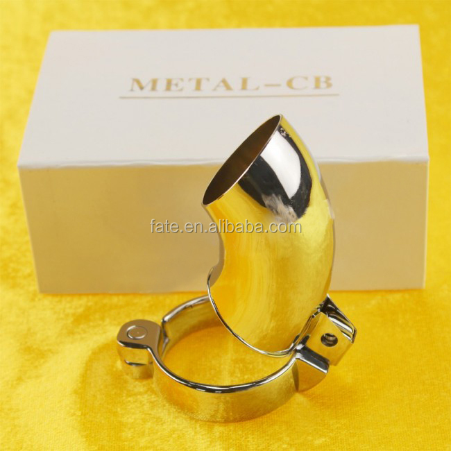 New High Quality Sexy Metal Male Chastity Device Belt Gimp, Kinky