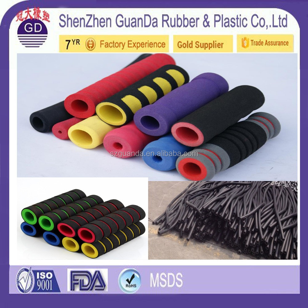 High quality polyurethane foam tube / Silicone Rubber motorcycle handle grip
