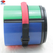 Red bandage Hook and loop fastening tape with buckle for luggage