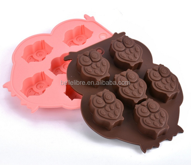 FDA silicone baking tools bake ice tray houlsehold lovely pattern cake mould