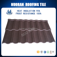 NUORANPopular Colorful Stone Coated Metal Roofing Tile / Metal Corrugated Tile Roofing/stone Chip Coated Metal Roof Tiles