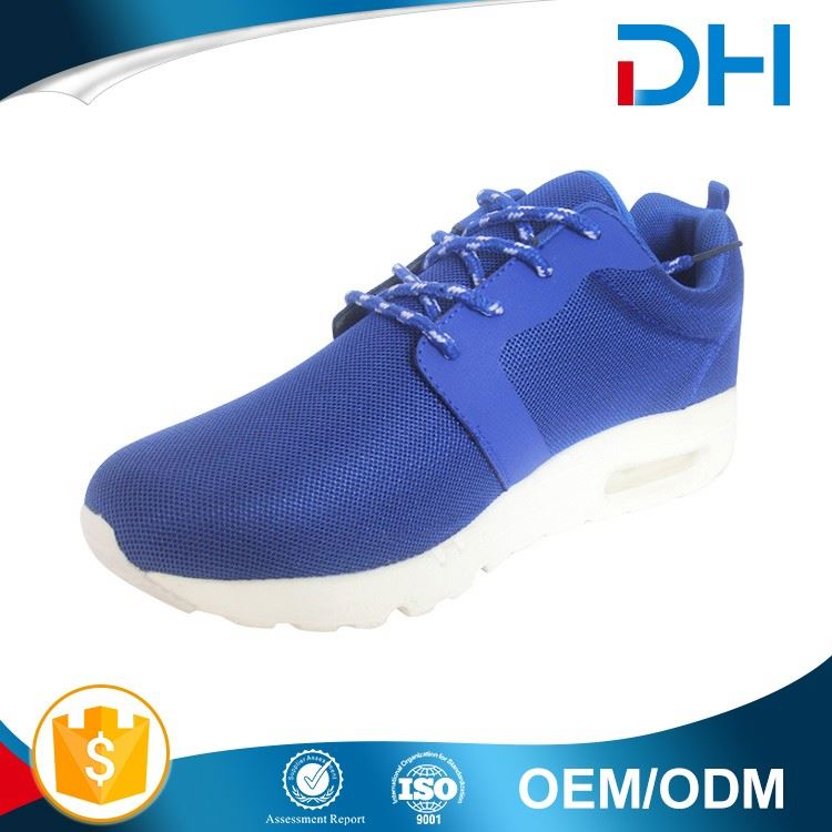 Blue upper different type white outsole air cushion tennis shoes men sports