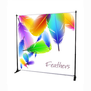 Portable Trade Show Adjustable Exhibition Backdrop Stand