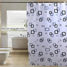 Printed Peva Grid Mass Selection Shower Curtain