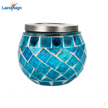 Solar Table light, Rechargeable Outdoor/Indoor Waterproof Solar Night Lights, Color Changing Mosaic Glass LED Decoration Light