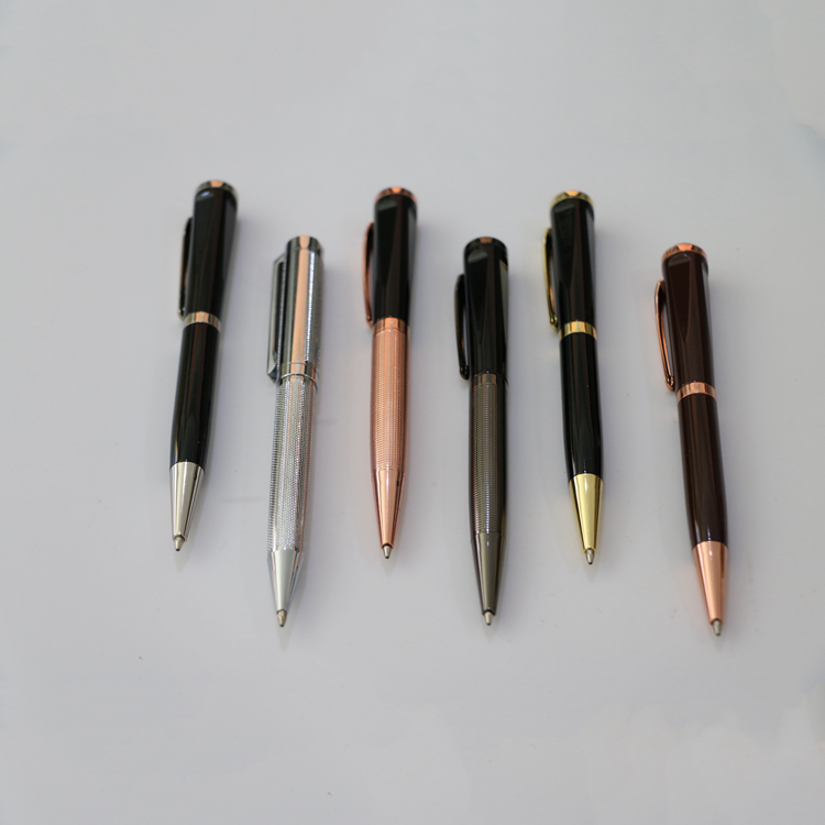 Factory Wholesale 2018 Promotional Business Gift Souvenir Thin Metal Ball Twist Ballpoint Pen