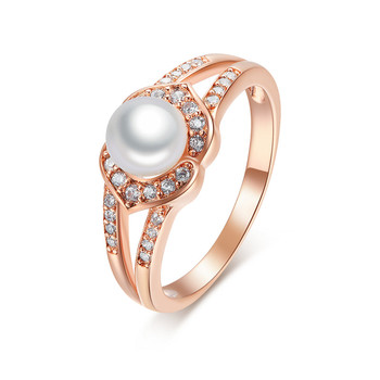 #Sterling Silver Gold Plated Fresh Pearl Jewelry Mounting Ring