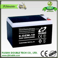 rechargeable lead acid 6-dzm-10 36v/12v strong electric bike battery