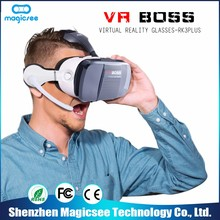 Top quality oem 3d virtual reality headset 3d image glasses vr boss glasses for teenagers