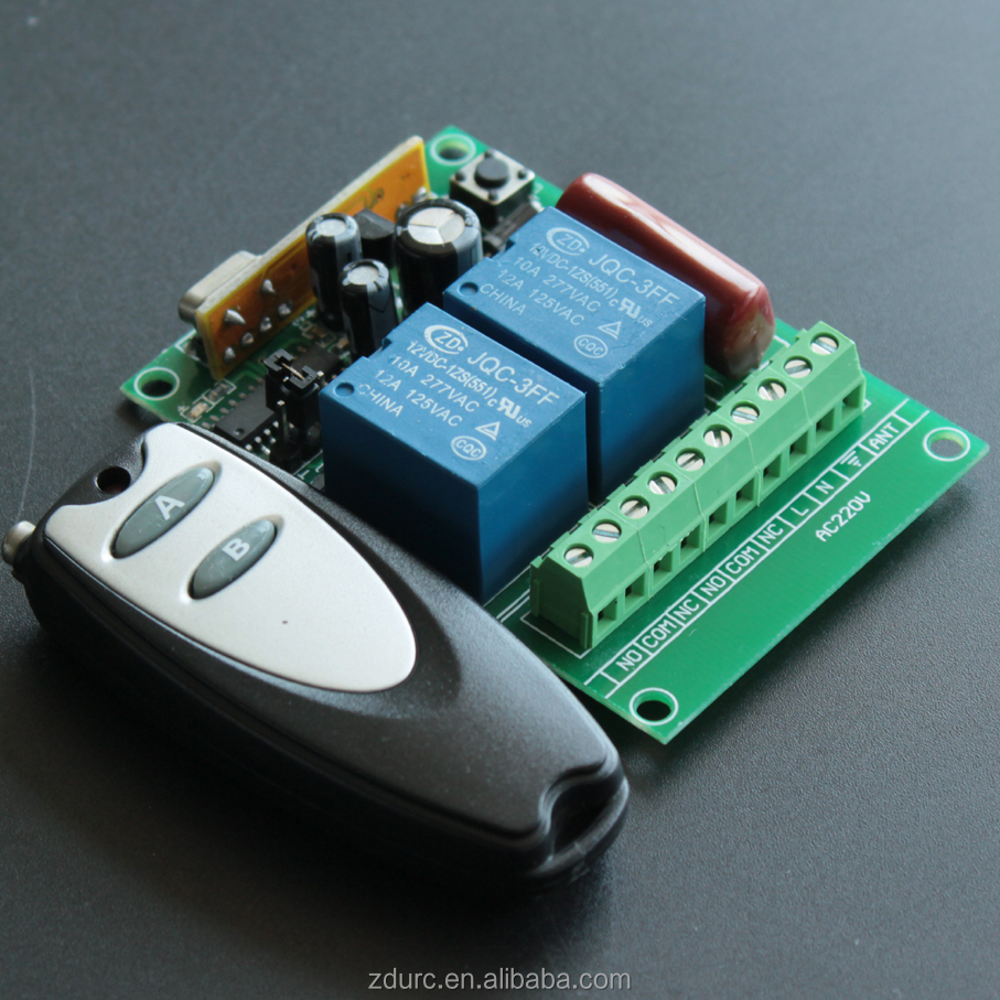 RF 433mhz remote control duplicator for garage door custom rf transmitter and receiver