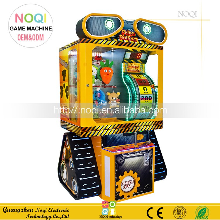 Attractive coin operated redemption game Gift arcade machine Prize Rolling for game center