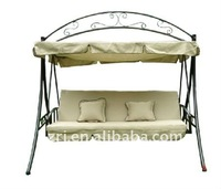 three seats dual purpose patio swing
