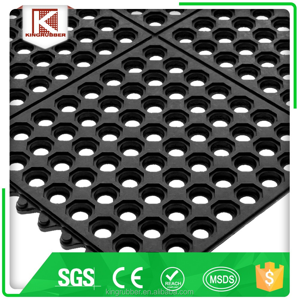 Rubber floor mats cheap - Anti Slip And Anti Fatigue Interlocking Cheap Rubber Floor Mats