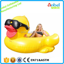 Giant Inflatable Riding Duck Pool Ride Giant duck Raft Kids Floating