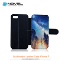 Newest sublimation pu leather wallet for iphone 7