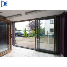 Professional Powder Coated Tempered Glass Aluminum Security Sliding Door made in China