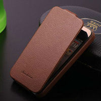 genuine litchi leather flip case for iphone4 4s, for iphone 4 leather case, fancy case for iphone 4