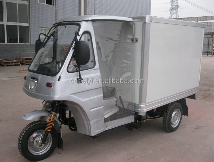 New style Cheap price cabine solar electric food tricycle with enclosed cargo box