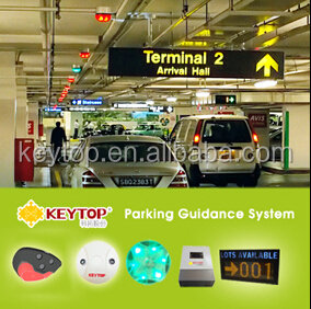 intelligent parking guidance system with car detector sensor/ip camera based parking guidance system