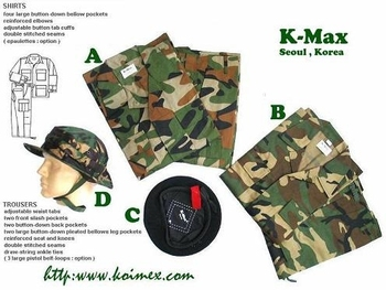 Military & Army Uniforms with Boonie Hat annd Beret