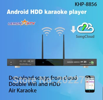 Android HDD karaoke player with Vietnamese Songs Cloud,Support Air KTV,Support over 3TB up to 16TB HDD.Build In AGC/AVC