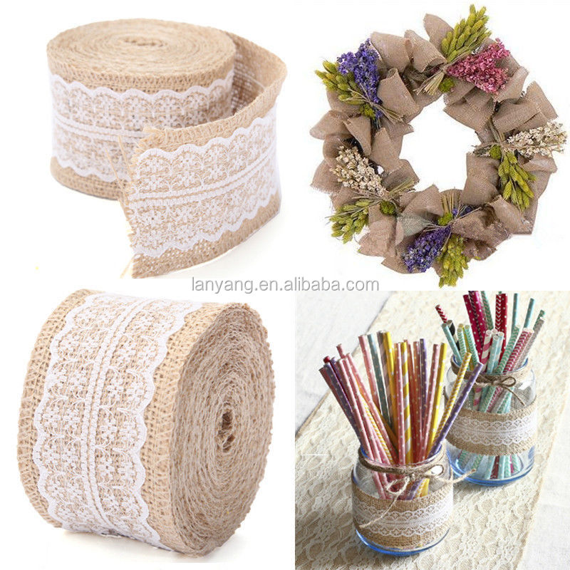 Natural jute Burlap Ribbon roll