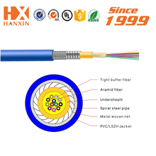 High speed outer sheath color custom OFNP 8 core single mode fiber optic cable